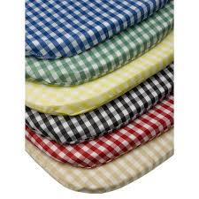Chair Pads Gingham Check Tie On Seat Pad 16 X 16 Kitchen Outdoor Dining Chair