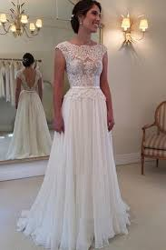 lace top wedding dress a line lace top backless wedding dress gowns