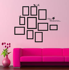 Removable by Diy Photo Frame Black Removable Vinyl Wall Stickers Decals Quote