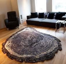 tree trunk wool silk contemporary modern area rugs by sonya