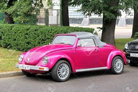used pink volkswagen beetle moscow russia july 7 2012 pink volkswagen beetle custom