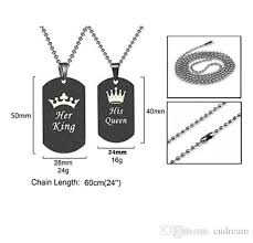 necklace types images Wholesale 4 types her king his queen couple necklace stainless jpg