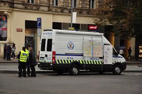 prague car czech police car in prague cc0 photo