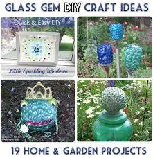 Garden Crafts Ideas - glass garden art projects gardening ideas