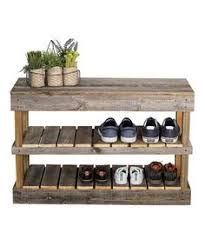 Bench With Shoe Storage Plans - shoe rack out of recycled pallet wood no plans just pinterest
