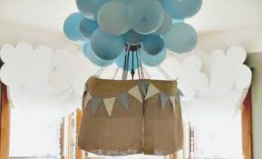 hot air balloon decorations a boy s hot air balloon birthday party spaceships and