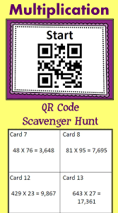 thanksgiving multiplication activities double and triple digit multiplication qr code scavenger hunt