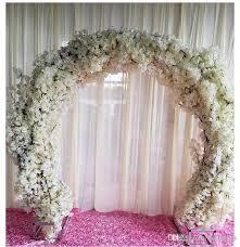 wedding arch garland 2018 artificial cherry blossom diy simulation wedding arch door