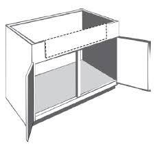 Sink  Range Cabinets - Corner cabinet for farmhouse sink