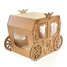 carriage cardboard cat house u2013 true aristo cat in a fairy tale