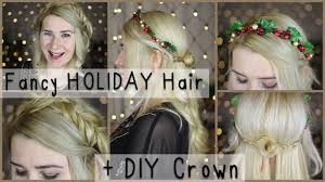 Hairstyle Diy by Fancy Christmas Nye Holiday Hairstyles Diy Winter Flower Crown