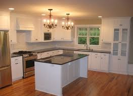 kitchen amusing white shaker kitchen cabinets dark wood floors