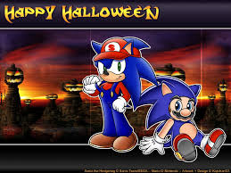 my free wallpapers games wallpaper sonic and mario halloween