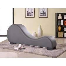 Grey Chaise Lounge Chairs Living Room Furniture The Home Depot