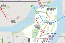 Green Line Map Boston by America Archives Urban Map