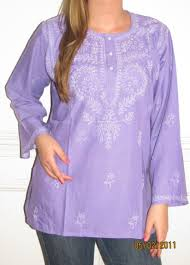 purple cotton tunic top 34 99 pure cotton embroidered indian