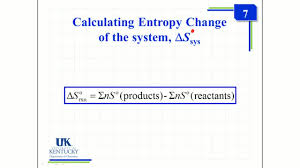 Standard Entropy Change Table 5 08 Calculating Standard Entropy Change Thermodynamics Coursera