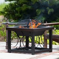 Patio Table With Built In Heater Outdoor Fireplaces