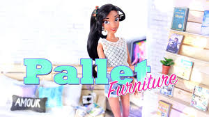 diy how to make doll pallet furniture handmade crafts youtube