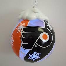 flyers light up glass ornament