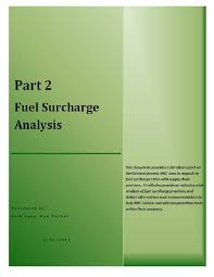 truckload fuel surcharge table fuel surcharge performance report
