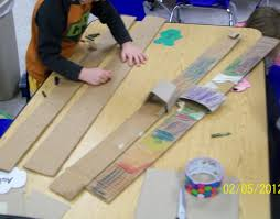make your own skis and use them duct tape and cardboard yom ha