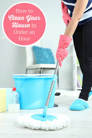 how to clean your house in under an hour simply stacie