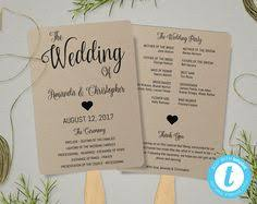 rustic wedding fan programs this is an instant printable wedding program template