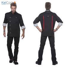 veste de cuisine homme noir veste de cuisine personnalisée qace vestes personnalisées kelcom