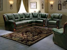 Green Leather Sectional Sofa Living Room And Green Green Leather Living Room