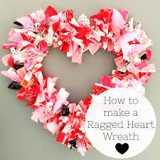 heart wreath heart fabric rag wreath tutorial the polka dot chair