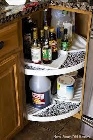 organize lazy susan base cabinet lazy susan organization ideas clean lazy susan cabinet love the