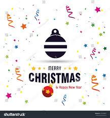 christmas ball ornaments card design stock vector 354428885