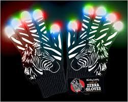 Light Up Gloves Zebra Led Light Up Gloves With Fluffy Mane Exclusive To Blinky