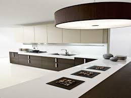 modular kitchen design displaying u shaped black white high gloss
