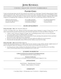 resume templates exles free pastry chef resume template sle writing guide genius 10