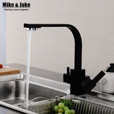 3 kitchen faucet reviews dual function 3 way water filter square kitchen faucet