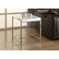 monarch specialties accent table monarch specialties glossy white end table i 3050 the home depot