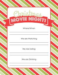 100 movie night invitation template free free printable