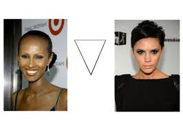 upside down v shape haircut 21 best inverted triangle face shape images on pinterest