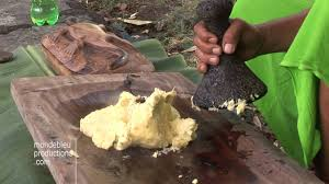 cuisiner le fruit de l arbre à breadfruit poe marquesas stock footage poe uru fruit de l