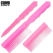 metal comb metal comb knife be safe girl