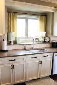 kitchen window valances ideas stainless steel kithcen aid white stained wall kitchen bay window