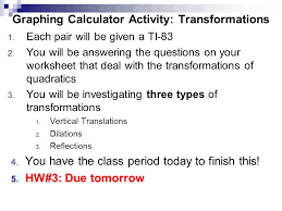 swbat u2026 investigate transformations of quadratic functions tues 5