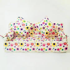 sofa flower print dollhouse furniture sets accessories for barbie mini pillow