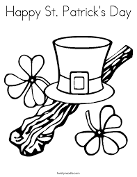 happy st patrick u0027s day coloring page twisty noodle