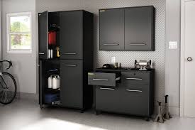 Garage Storage Cabinets South Shore Karbon Collection Wall Storage Cabinet Pure Black