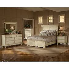 amazon com wilshire panel bed w high profile headboard in antique