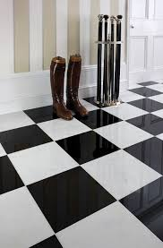 marble floor tiles black and white