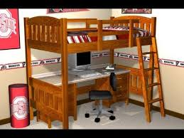 Instructions For Building Bunk Beds by Loft Bed Plans How To Build A Loft Bed With Plans Blueprints